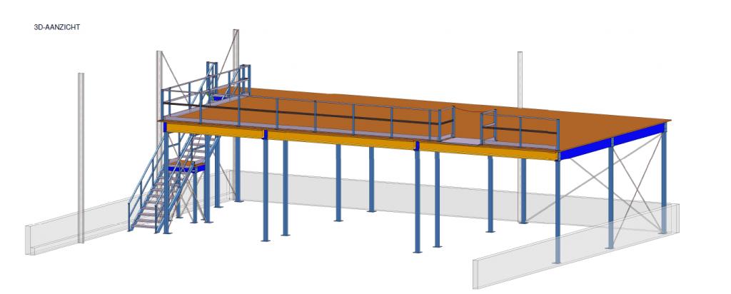 bouwtekening platform